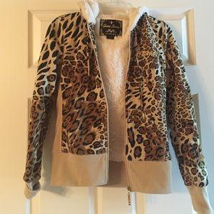 Tops - Fur lined guess hoodie