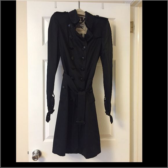 f8fb1dbebee Burberry Dresses   Skirts - Burberry Silk Wrap Trench Dress in Black.