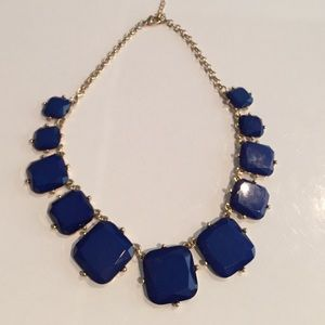 Nordstrom BP Jewelry - Blue cubed statement necklace