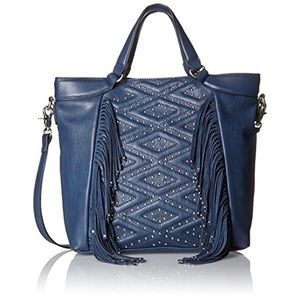 French Connection Cassidy Navy Tote Handbag Purse