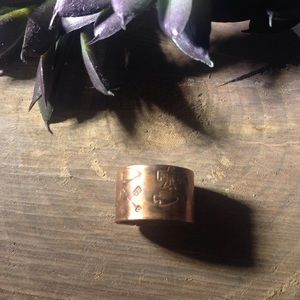 LAST CHANCE NEW rustic tribal cigar band ring