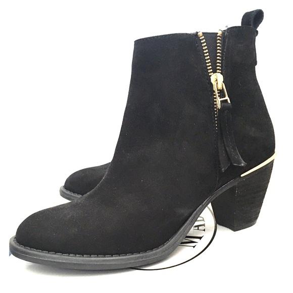 728ebdb1769 Steve Madden Black Wantagh boots NWT