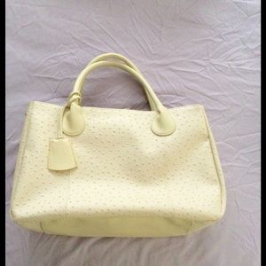 Ivory Pebble Faux Leather Tote Shopper Handbag