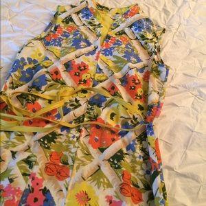 VINTAGE 60's floral print dress