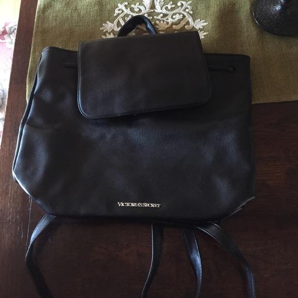 bb7b6bd90b Black leather Victoria secret backpack. NWT. Victoria s Secret