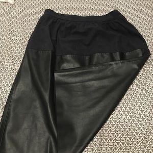 Zara Faux Leather and Suede Skirt