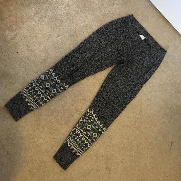 75% off GAP Pants - GAP fair isle sweater marbled black leggings ...