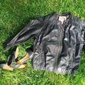 Cropped perforated leather jacket • Juicy Couture