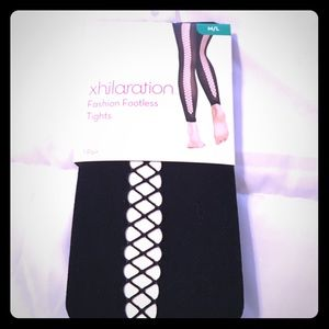 Black footless tights brand new