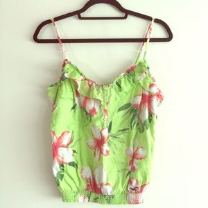 Floral Hollister Green Tank - Small