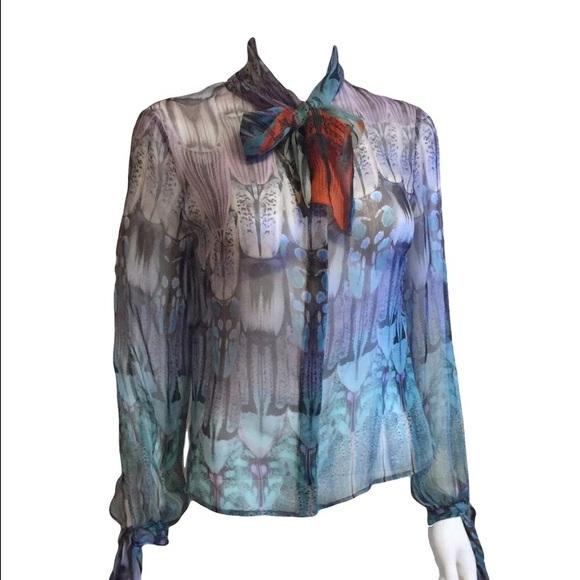 Alexander McQueen 2008 runway blouse with bow tie