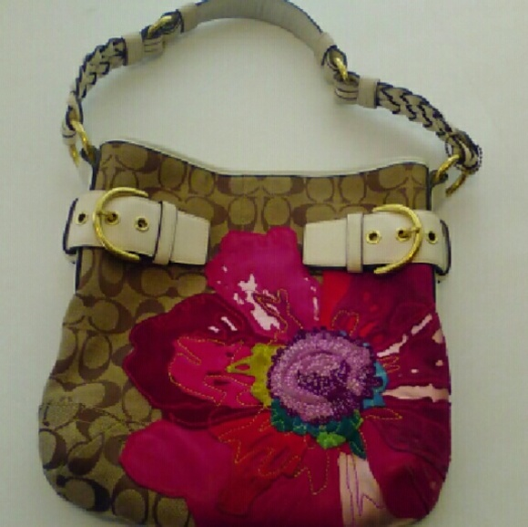 Coach Bags Poppy Flower Handbag An Coin Purse Poshmark
