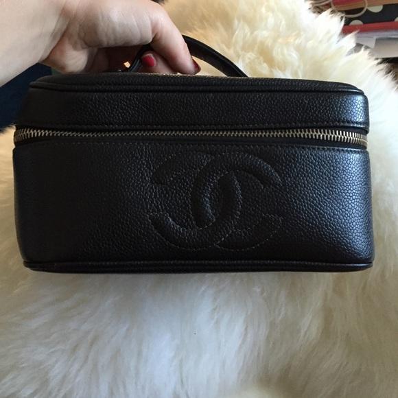 CHANEL Handbags - Authentic Chanel cosmetics case caviar vanity 8f6e952647824