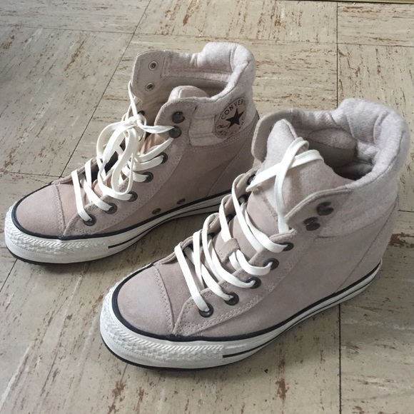 Converse Shoes - Converse lux suede wedge sneakers 21ceaa9ab