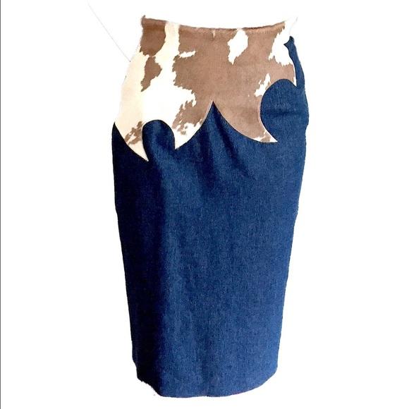 Iconic Alexander McQueen Runway Denim Skirt, 1997