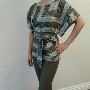 Zara kimono - sleeved top with belted waist
