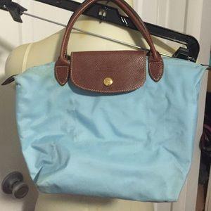 Longchamp light blue hand bag