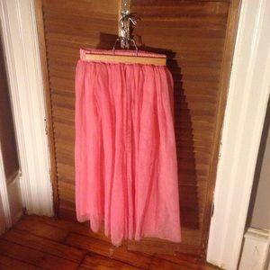 Light pink tulle skirt