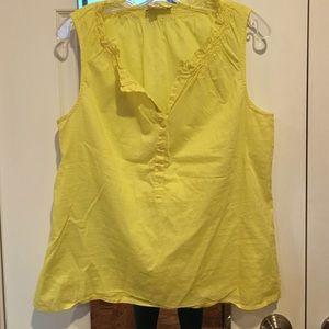 Bright yellow sleeveless top