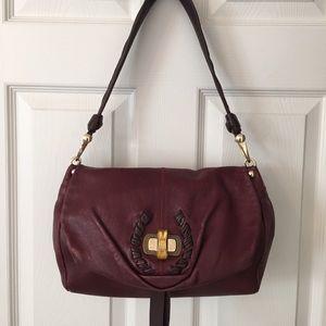 Nina Ricci Handbags - 🛍 🎉HP Nina Ricci Oxblood Leather Shoulder Bag