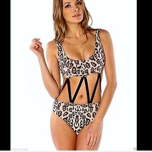 Urban Outfitters Beach Riot Leopard One Piece S
