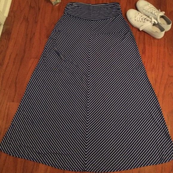 80 merona dresses skirts navy and white striped