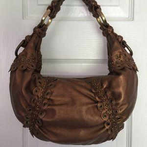 Isabella Fiore Handbags - 🛍 Isabella Fiore Brown Metallic Leather Tote Bag