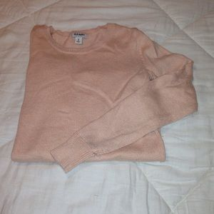 peach colored light sweater