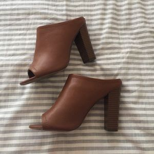 Merona Shoes - Target Tan Slip On Mules