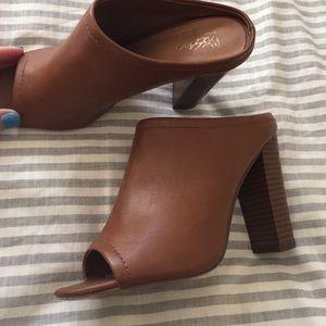 Merona Shoes - Target Tan Slip On Mules