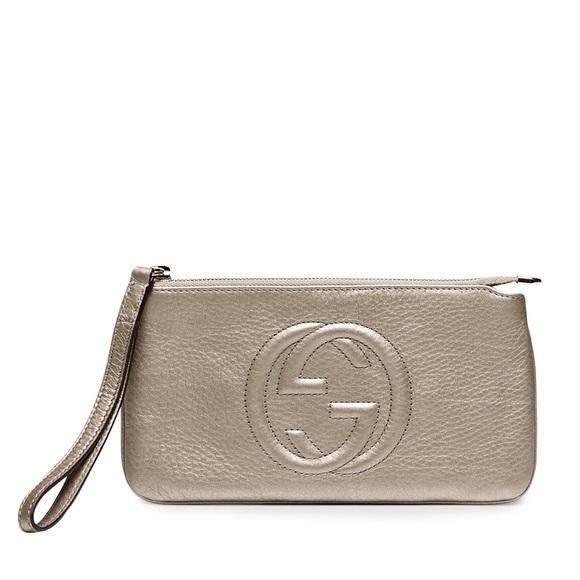ffa8e4d7772 Gucci Handbags - Gucci Soho Leather Wristlet