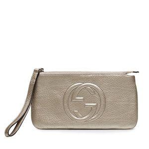 Gucci Handbags - Gucci Soho Leather Wristlet