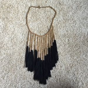 Forever 21 Jewelry - Black & Gold Fringe Necklace