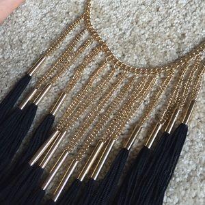 Forever 21 Jewelry - Black & Gold Fringe Necklace