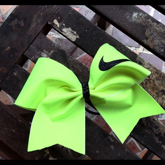 25c39921845dd Neon Nike Pro Cheer Bow