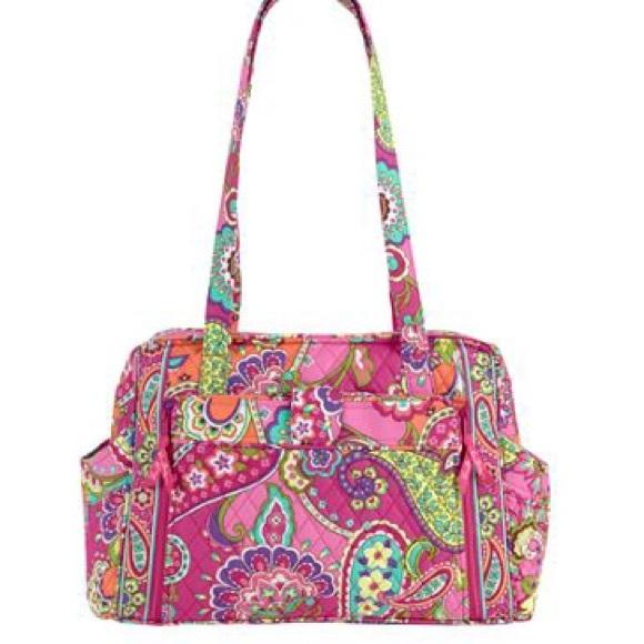 ba54ca40803 Vera Bradley pink swirls diaper bag   changing pad.  M 5782fb954225be30bd001eb5