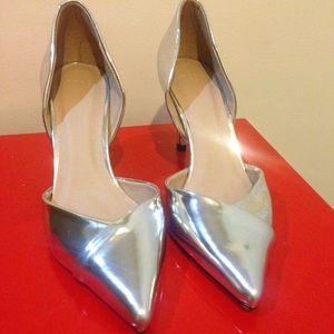 ASOS Shoes - NWOT ASOS Silver Metallic d'Orsay Heels
