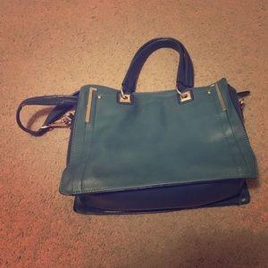 Teal Crossbody/ double handles Bag