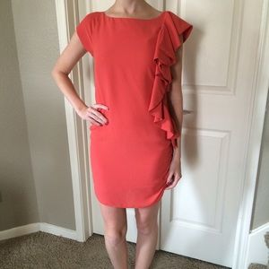 Blaque Label Dresses & Skirts - NWT Blaque Label Coral Side Ruffle Dress