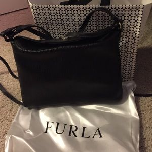 Furla Black Leather CrossBody