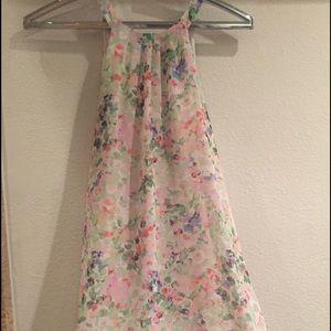 ASTR Dresses & Skirts - ASTR Halter Flower chiffon mini dress
