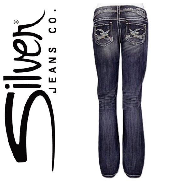 96% off Silver Jeans Denim - Silver Jeans Berkley Straight Cut ...