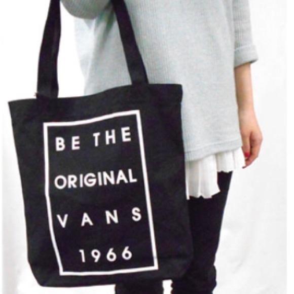 784e1ba777a Vans Bags   New Be The Original Black Tote Bag   Poshmark