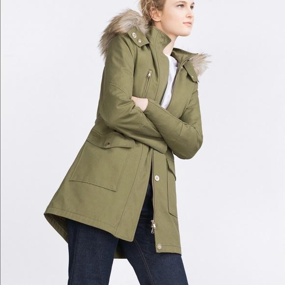 38% off Zara Jackets & Blazers - Zara women's parka jacket olive ...