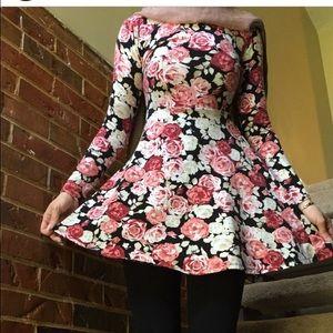 S floral skater dress