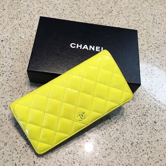 74e4de0ef606 CHANEL Bags | Neon Fluorescent Patent Leather Wallet | Poshmark