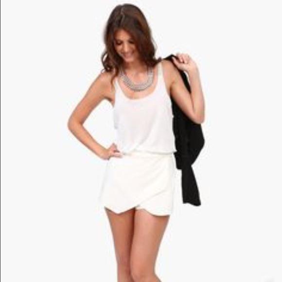 6caddaa8c9 Necessary Clothing Skirts | White Envelope Skirt Never Worn | Poshmark