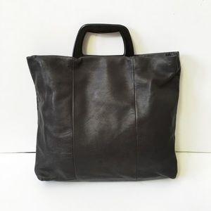 Saks Fifth Avenue Handbags - Saks Fifth Avenue Genuine Italian Leather Satchel
