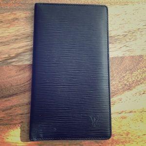 authentic LOUIS VUITTON Epi leather black wallet