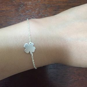 Jewelry - Four leaf clove stainless steel bracelet